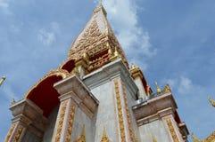 Wat Chaithararam ou wat Chalong à Phuket, Thaïlande images stock