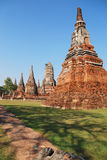 Wat Chaiwatanaram. The famouse old temple in Ayutthaya Royalty Free Stock Photo