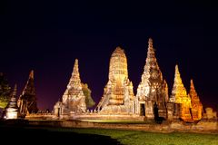 Wat Chaiwattanaram Royalty Free Stock Photos