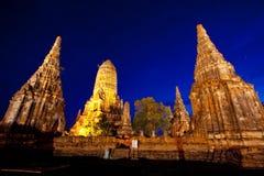 Wat Chaiwattanaram. The historical temple in Ayutthaya, Thailand Stock Photo