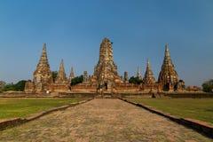 Wat Chaiwattanaram Foto de archivo libre de regalías