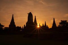 Wat Chaiwattanaram Lizenzfreie Stockfotografie