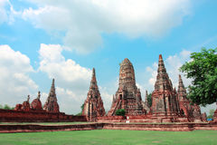 Wat Chaiwattanaram, Ayudhya, Tahiland Royalty Free Stock Photo