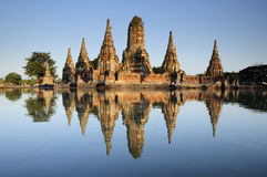Wat chaiwattanaram in Ayutthaya Royalty-vrije Stock Fotografie