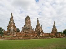 Wat Chaiwattanaram in Ayutthaya Stock Images