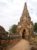 Wat Chaiwattanaram in Ayutthaya Stock Image