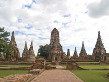 Wat Chaiwattanaram in Ayutthaya Royalty Free Stock Images