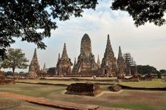 Wat Chaiwattanaram in Ayutthaya lizenzfreie stockfotos