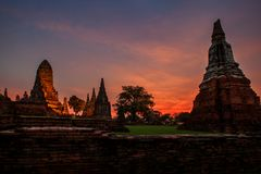 Wat chaiwattanaram ayutthaya province world heritage site of une. Sco in central of thailand Stock Photography