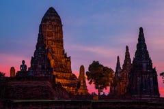 Wat chaiwattanaram ayutthaya province world heritage site of une. Sco in central of thailand Stock Image