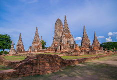 Wat Chaiwattanaram, Ayutthaya, Tailândia Fotografia de Stock