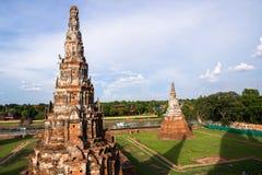 Wat Chaiwattanaram, Ayutthaya, Tailândia Imagens de Stock Royalty Free
