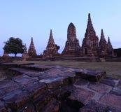 Wat Chaiwattanaram Stock Photo