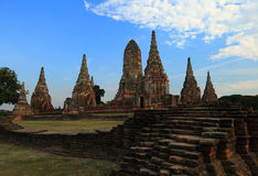 Wat Chaiwattanaram in Ayutthaya, Thailand Royalty Free Stock Photo