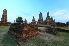 Wat Chaiwattanaram in Ayutthaya, Thailand Royalty Free Stock Images