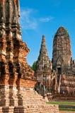Wat Chaiwattanaram en Tailandia. Foto de archivo