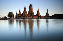 Wat chaiwattanaram the flooded Royalty Free Stock Photo
