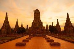 Wat Chaiwattanaram. The historical temple in Ayutthaya, Thailand Royalty Free Stock Photo