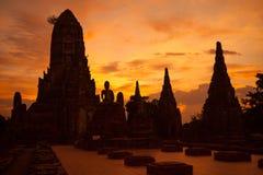 Wat Chaiwattanaram. The historical temple in Ayutthaya, Thailand Stock Images