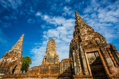 Wat Chaiwattanaram II Royalty-vrije Stock Foto