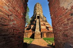 Wat chaiwattanaram in old Siam Kingdom capi Stock Image