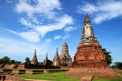 Beside of Wat chaiwattanaram temple Stock Photo