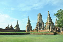 Wat Chaiwattanaram Temple. Pagoda at Wat Chaiwattanaram Temple, Ayutthaya was the capital of Thailand Stock Photography