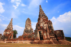 Wat Chaiwattanaram temple in Ayutthaya, Thailand Royalty Free Stock Images