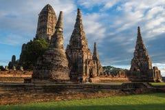 Wat Chaiwattanaram Temple. A part of Ayutthaya historical park ,Locate on Ayutthaya province ,Thailand Royalty Free Stock Photos