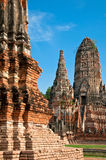 Wat Chaiwattanaram in Thailand. Stockfoto