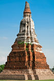 Wat Chaiwattanaram in thailand. Royalty Free Stock Images
