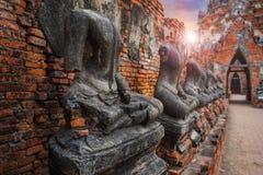 Wat Chaiwatthanaram寺庙在Ayuthaya历史公园,泰国 免版税图库摄影