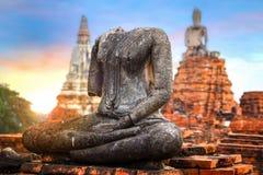 Wat Chaiwatthanaram寺庙在Ayuthaya历史公园,泰国 免版税库存照片