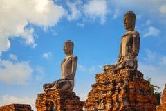 Wat Chaiwatthanaram寺庙在Ayuthaya历史公园,泰国 库存照片