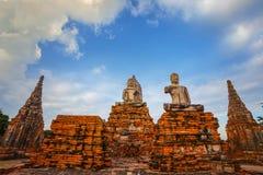Wat Chaiwatthanaram寺庙在Ayuthaya,泰国 库存图片