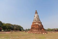 Wat-chaiwatthanaram阿尤特拉利夫雷斯泰国 库存图片