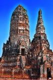 Wat Chaiwatthanaram,佛教寺庙在阿尤特拉利夫雷斯,泰国 库存照片