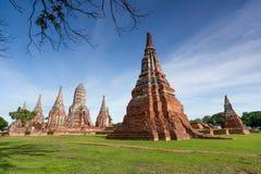 Wat Chaiwatthanaram, Ayuthaya省,泰国 图库摄影