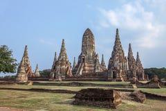 Wat Chaiwatthanaram är den forntida buddistiska templet, Arkivfoto