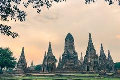 Wat Chaiwatthanaram, буддийский висок, парк Ayutthaya исторический, Стоковая Фотография RF