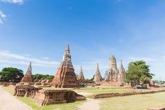 Wat Chaiwatthanaram Images libres de droits