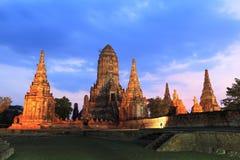 Wat Chaiwatthanaram Royalty-vrije Stock Foto