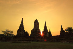 Wat Chaiwatthanaram Royalty-vrije Stock Fotografie