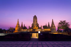 Wat Chaiwatthanaram Royalty-vrije Stock Foto's
