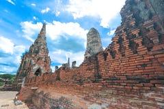 Wat-chaiwatthanaram Lizenzfreies Stockbild