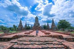 Wat-chaiwatthanaram Immagini Stock Libere da Diritti