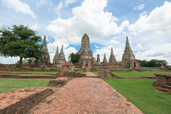 Wat-chaiwatthanaram Fotografia Stock