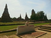 Wat Chaiwatthanaram Immagine Stock Libera da Diritti