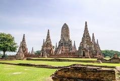 Wat Chaiwatthanaram ancient buddhist temple Royalty Free Stock Image