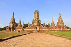 Wat Chaiwatthanaram, Ancient temple and monument in Thailand Stock Images